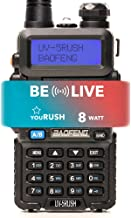 youRUSH UV-5RUSH 8W Multi Power Dual Band Radio - BAOFENG UV-5R Radio with Extended BL-5 2800mAh Battery and Programming C...
