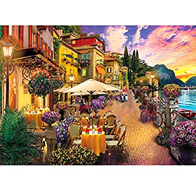 Jigsaw Puzzles for Adults 1000 Piece Puzzle for Adults 1000 Pieces Puzzle 1000 Pieces Italy Lake Como Small Town from HUADADA