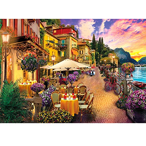 Jigsaw Puzzles for Adults 1000 Piece Puzzle for Adults 1000 Pieces Puzzle 1000 Pieces-Italy Lake Como Small Town……