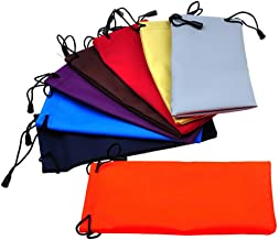 Bullidea Sunglasses Micro Bags Waterproof PU Drawstring Storage Sack Cleaning and Storage Pouch for Sunglasses,Pack of 10
