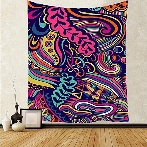 Tapiz de calavera hippie psicodélico sol colgante de pared tapiz bohemio arte revestimiento de pared fondo tapiz de tela A4 73x95cm