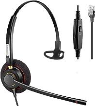 $29 » Arama Phone Headset RJ9 with Noise Cancelling Mic Compatible with Polycom VVX311 VVX410 VVX411 VVX500 Mitel 5320e Avaya 14...
