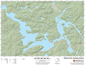 Parry Sound 17 x 22 Paper Wall Map Ontario Lorimer Lake