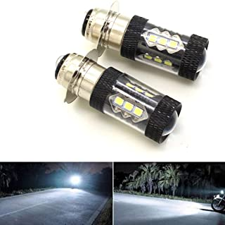 YEECHUN Headlight Bulbs for Yamaha Raptor 700 700R 2006-2018 80W 6000K White LED Bulb H6M 2 Pack