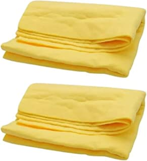 SOLDOUT™ 2 PCS Car Wash Accessories Super Absorption PVA Synthetic Chamois Auto Cleaning Cloth Wash Towel (Yellow, 43x32x...