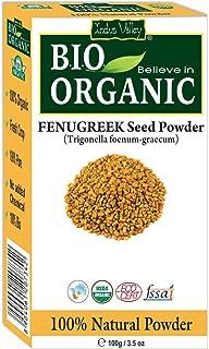 Indus Valley Organic Fenugreek Powder for Hair Growth (Trigonella foenum- graecum) - 100gm