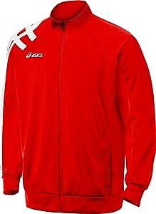 ASICS Men's Team Tiger Jacket (Red)