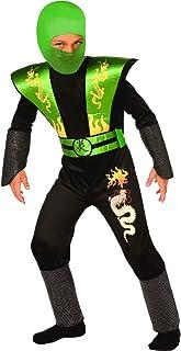 ORION COSTUMES Disfraz de Guerrero Ninja Verde para Niños