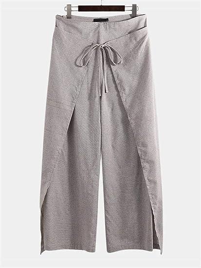 Pantalones Para Hombre Mens Ocasional Floja Multifuncionales Pantalones Pescador Correa Pantalones Verano Color Coffee Size Xxxxl Amazon Es Hogar