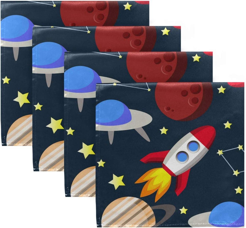 UMIRIKO Planet Classic Rocket Max 89% OFF Cloth Napkin Machine Galaxy Space Washable