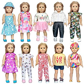 ARTST 18 inch Doll Clothes Accessories - Compatible with18 Inch Dolls My Life Dolls Our Generation Dolls