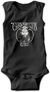 Robert S Villa Chris Stapleton Funny Customized Ultra Soft Cotton Comfortable Sleeveless Bodysuit with Three Button,