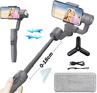 Feiyu Vimble2 3-Axis Handheld Gimbal Stabilizer for Smartphone Like iPhone x 8 7/Samsung Note 8 Note7 with Extendable Handheld, Face Tracking,Object Tracking,Time-Lapse Photography (Grey)