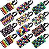 <span class='highlight'><span class='highlight'>SENHAI</span></span> 12 Pack Luggage Tags, Travel Suitcase Baggage Labels ID Tags Business Card Holder - Colorful