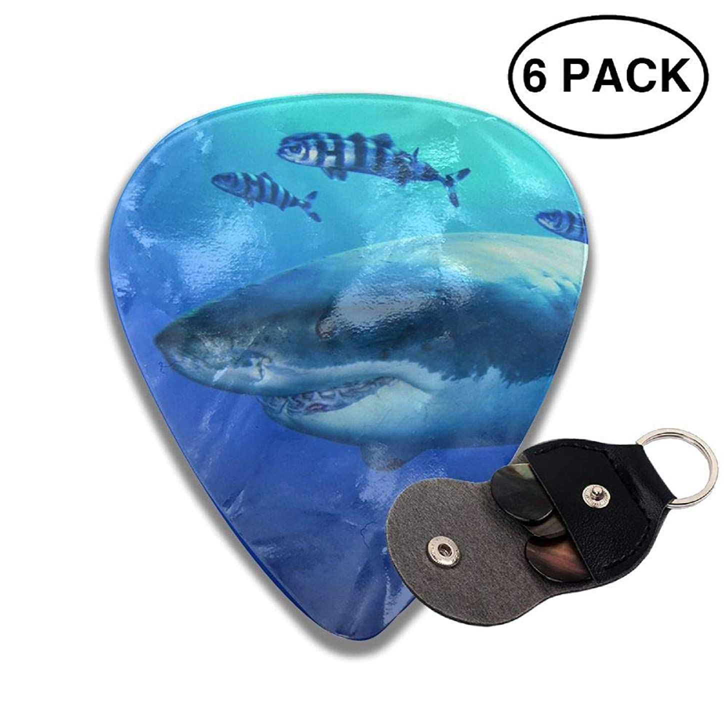 CUTEDWARF 6 Pieces of Personalized Guitar Picks Shark Bites The Ocean Print