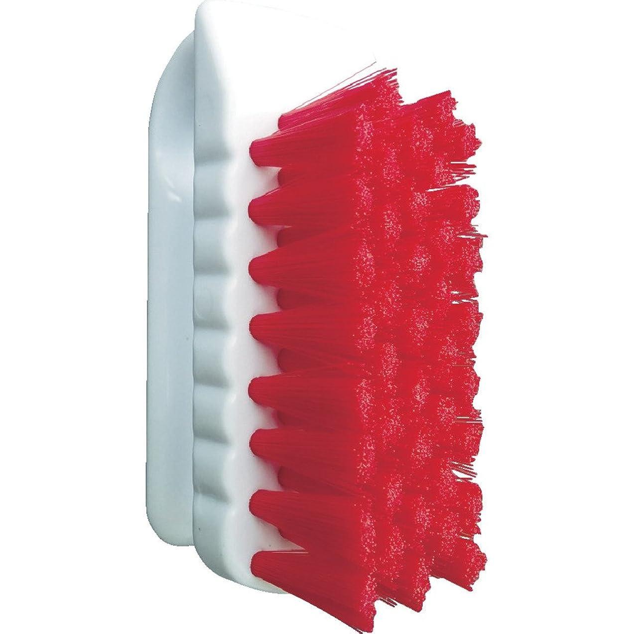 付き添い人巻き戻すトレーニングバーテック バーキュート 私の爪ブラシ 赤 BCN-R 61700101 つめ除菌ブラシ