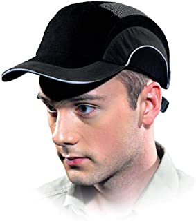 HardCap A1+ 282-ABR170-11 Standard Brim Baseball Style Bump Cap with HDPE Protective Liner and Adjustable Back