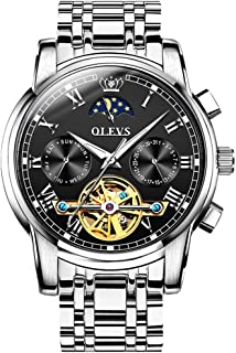 OPK Men's Wrist Watch - Fashion Minimalist Dial - Two Tone Alloy Strap - Stainless Steel Case - Waterproof Casual Quartz W...