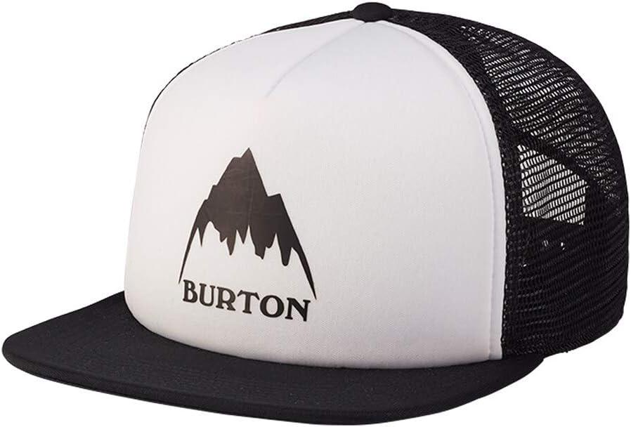 BURTON Unisex I-80 Snapback Trucker Hat, Stout White, One Size