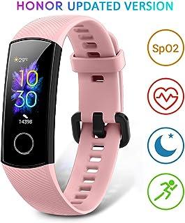 HONOR Band 5 Pulsera Actividad Inteligente Pulsera de Actividad con Pulsómetro Mujer Hombre Monitor de Actividad Deportiva Ritmo Cardíaco Impermeable IP68 Reloj Fitness con Podómetro, Rose