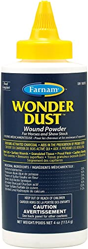 Farnam Wound Care for Horses, Dogs, Cattle and Ponies, Powder, Dressing and Protection
