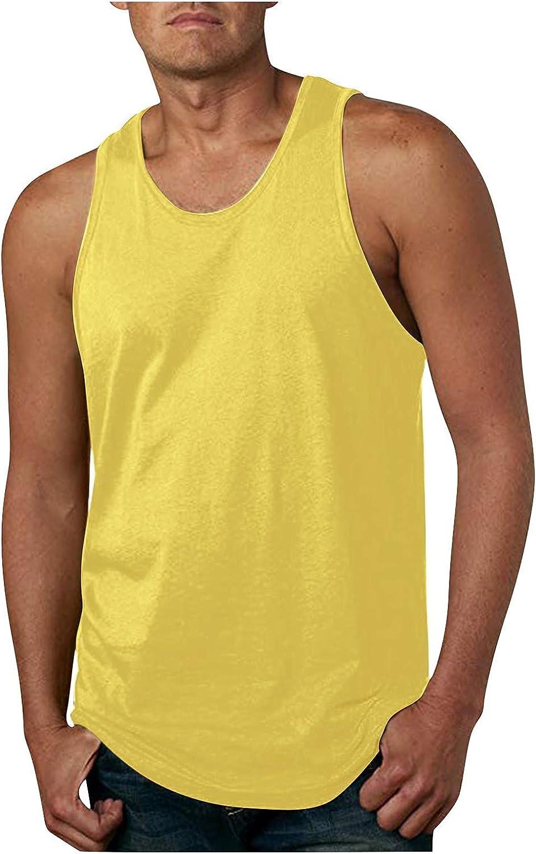 LEIYAN Mens Gym Workout Tank Tops Summer Sleeveless Muscle Bodybuilding Jogging Running Fitness Training Shirts