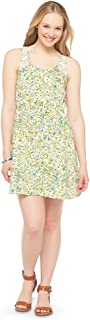 Mossimo Supply Co Women's Sleeveless Floral Daisy Print Junior Dress