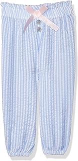 Giggles Striped Drawstring Elastic Waist Pants For Girls