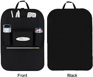 ZWOOS Car Seat Storage Box Mobile Phone Cash /& Glasses PU Leather Leak Proof Storage Organizer Side Gap Pocket For Wallet