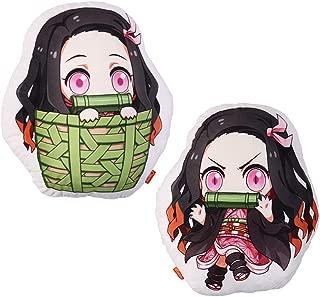 futurecos Kamado Nezuko Anime Plushies Cute Figure Throw Pillow Demon Slayer Kimetsu no Yaiba Stuffed Anime Characters Plush Doll Toys Decorations for Girls Adults Bedroom Party