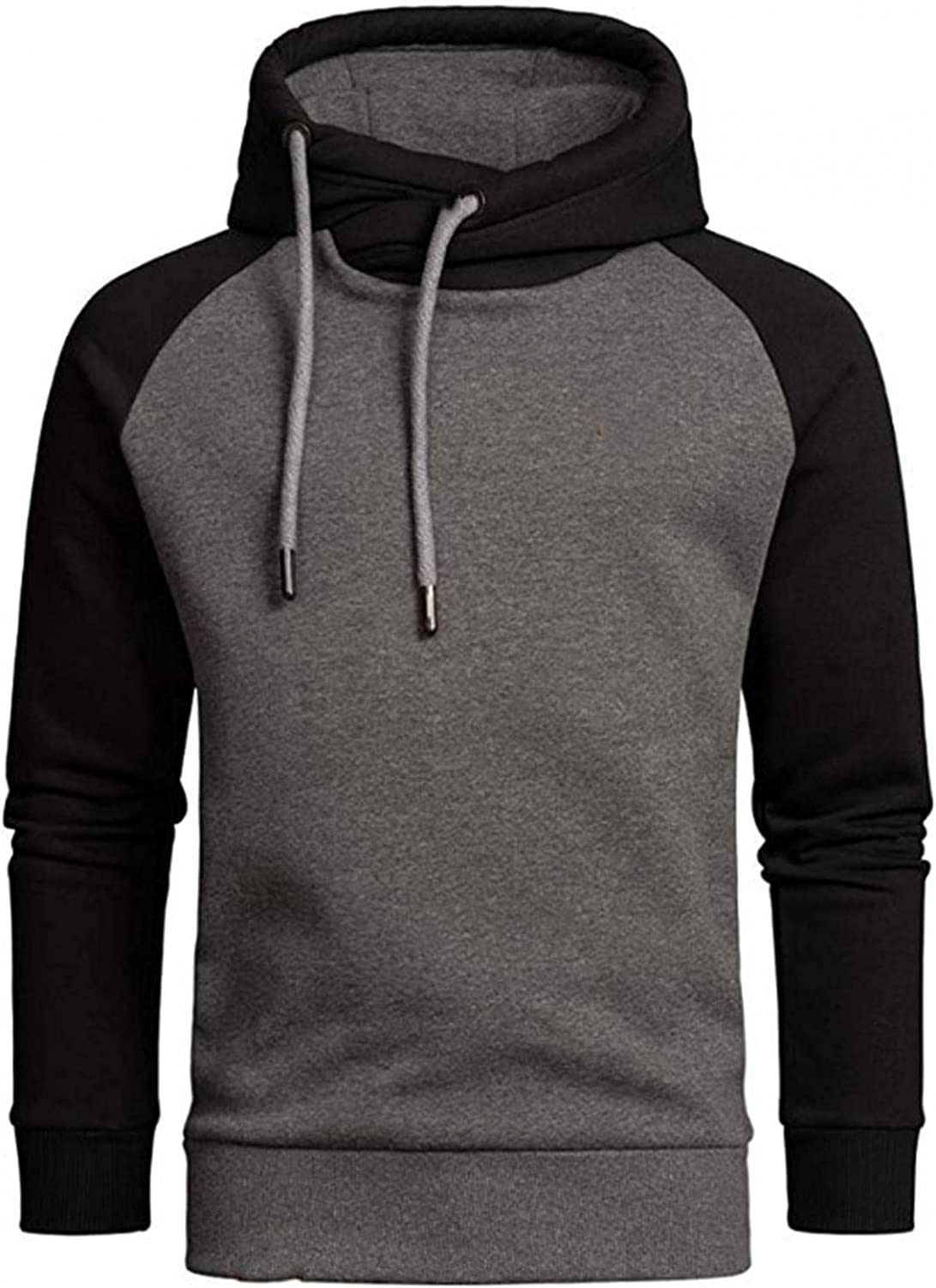 Aayomet Men's Hoodies Sweatshirts Patchwork Tops Long Sleeve Casual Athletic Hooded Pullover Shirts Blouses for Men