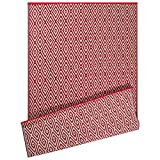 DII Contemporary Indoor/Outdoor Lightweight Reversible Fade Resistant Area Rug, Great For Patio, Deck, Backyard, Picnic, Beach, Camping, & BBQ, 4 x 6', Rust Diamond