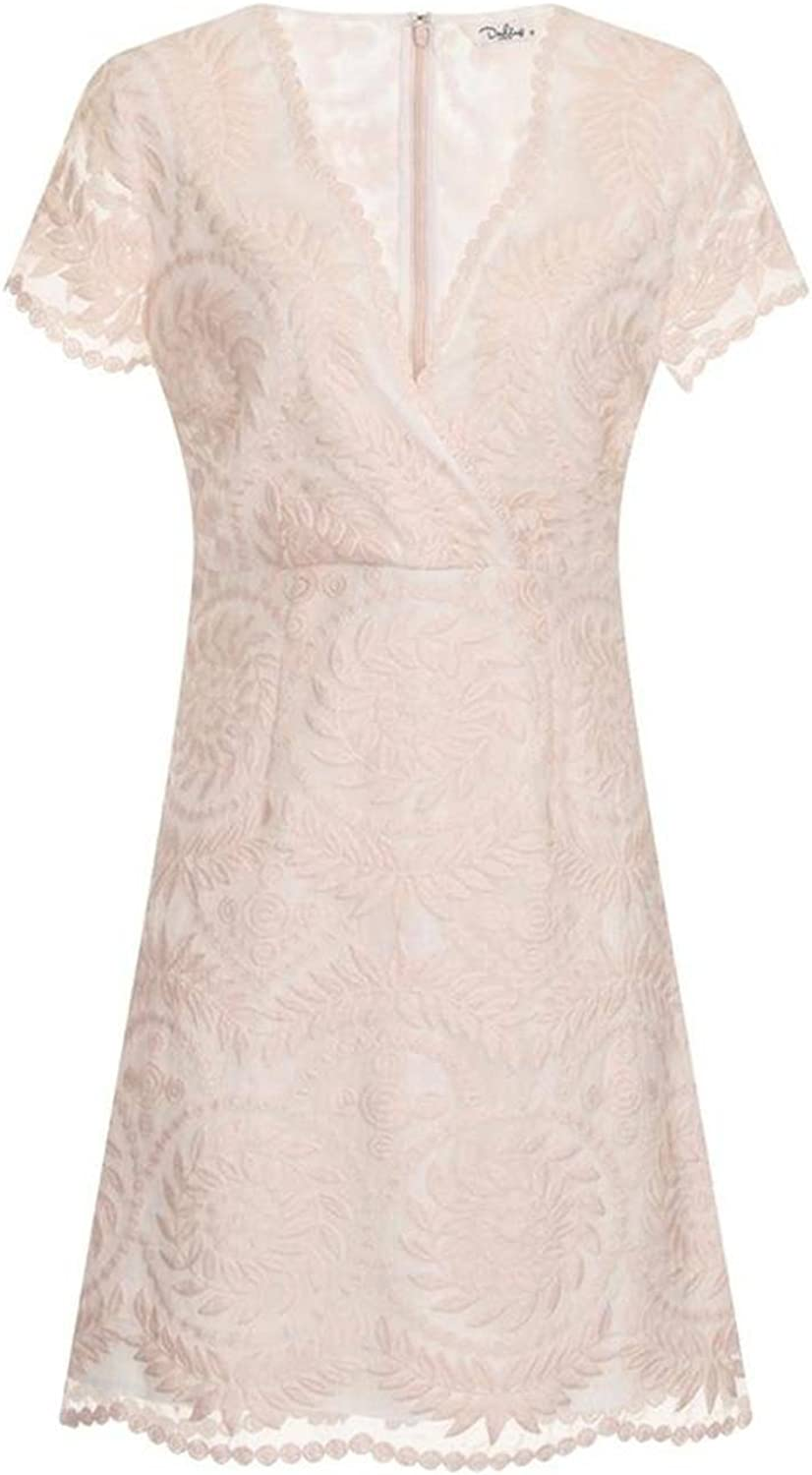 Darling London Women's Marielle Embroidered Short Dr Lace Memphis Mall 5 ☆ very popular Sleeve