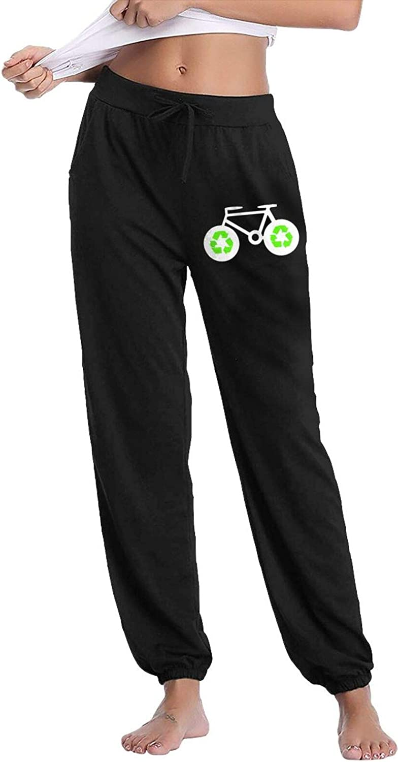 Women's Recycle Bicycle Max 55% OFF Jogger Drawstring Pan Jersey Sweatpants Cash special price