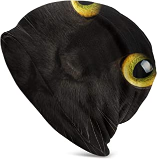 BDESHF Yellow-Eyed Cat Christmas Peas Hats Keep Warm and Lazy Loose Hats for Everyday Home, Go Out for Sports, Travel and More.