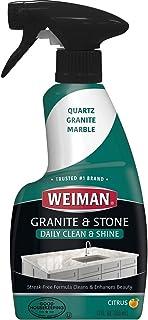 منظف وملمع جرانيت من ويمان - 355 مل - يعزز اللون الطبيعي في حجر الصابون الرخام من الكوارتز الجرانيت وأكثر من ذلك