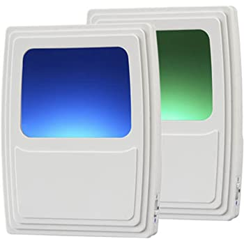 Amerelle Always On Green and Blue Night Light, 2 Pack – Plug-In Forever-Glo LED Night Light – Includes 1 Blue Light and 1 Green Light – An Ideal Bathroom Night Light or Nursery Night Light