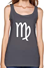 Virgo Symbol Women's Cotton Loose Fit Tank Tops Athletic Workout Sleeveless Shirts for Female