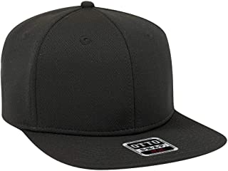 OTTO Adjustable Blank Cool Mesh Square Flat Visor SNAP 6 Panel Pro Style Snapback Hat (One Size Fits Most)