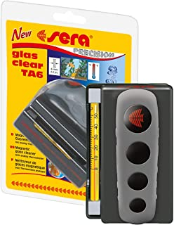 Sera Glas Clear TA6 Algae Magnet for Aquarium with Thermometer as Windscreen Cleaner or Cleaning Magnet