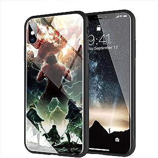 iPhone XS MAX Funda, Cubierta Trasera de Vidrio Templado, Si