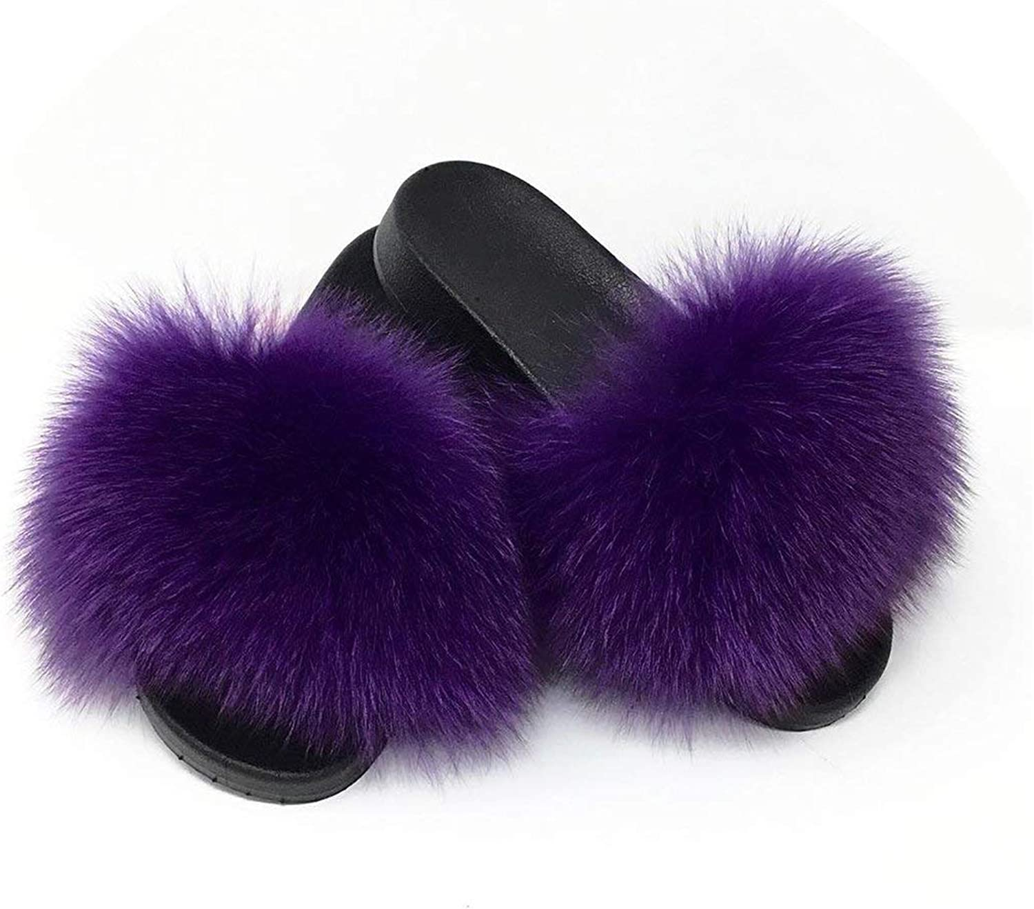 April With You 2019 Women's Summer Fur Slipper Flat Beach Slides Hot Sizes 36-45 Available