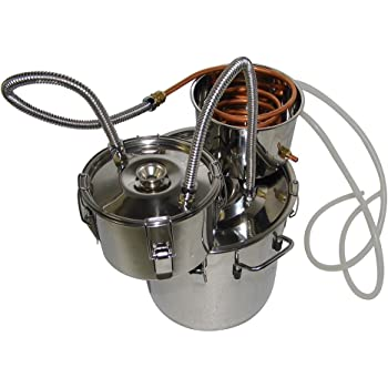 OLizee 3 Pots 8 Gal Stainless Steel Water Alcohol Distiller Copper Tube 30L Moonshine Still Spirits Boiler Home Wine Making Kit