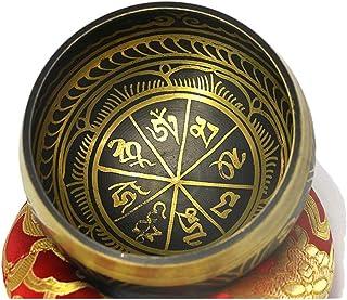 Buddhist Yoga Tibet Hammer Chakra Meditation Singing Metal Brass Bowl Hand Sticker Wooden Beater Decoration Craft