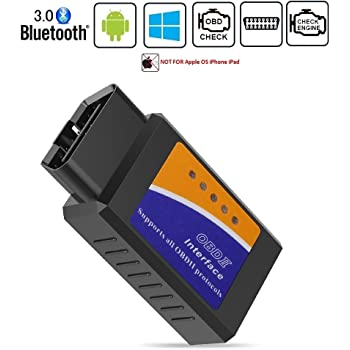 OBDII OBD2 Bluetooth Car Diagnostic Scan Tool Auto OBD Scanner for Android Devices
