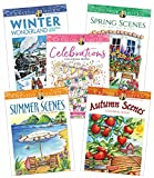 Creative Haven Color the Seasons: A Five Book Collection of Inspirational Scenes and Celebrations
