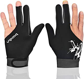 perfeclan 2X Snooker Billiard Pool Cue Glove Mano Izquierda 3 Finger Accesorio Azul Y Negro