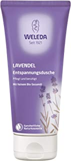 WELEDA Lavendel Entspannungsdusche, pflegende Naturkosmetik Waschlotion mit ätherischem Lavendelöl, Bio Duschgel zum Schutz vor trockener Haut 1 x 200 ml