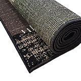 Moderner Design Kurzflor Teppich Flicken Patchwork-Optik meliert, Größe:160x230 cm, Farbe:Dunkelbraun/beige - 3