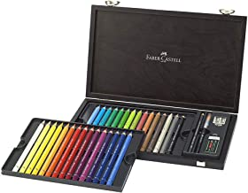 Faber-Castell Albrecht Dürer Magnus Watercolour Pencils, Set Of 30 Different Colours in a Wenge Stained Wooden Gift or Col...